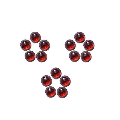 6x6mm 15pc AAA Quality Rose Cut Faceted Cabochon Red Garnet Loose Gems