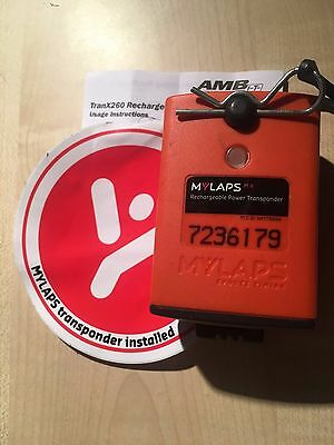MYLAPS TranX260 Rechargable Transponder Motorbike / Go Karts / Racing / Car