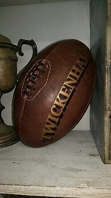 A Full Size Vintage Leather  'Twickenham' Rugby Ball