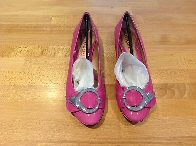 Ladies Luciano Barachini Shoes Uk Size 6 Euro 39 Pink Flats  New In Box