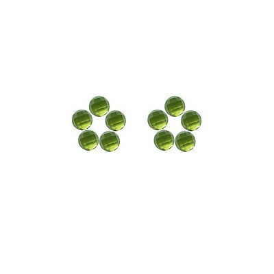 5x5mm 10pc AAA Quality Rose Cut Faceted Cabochon Natural Peridot Loose Gems