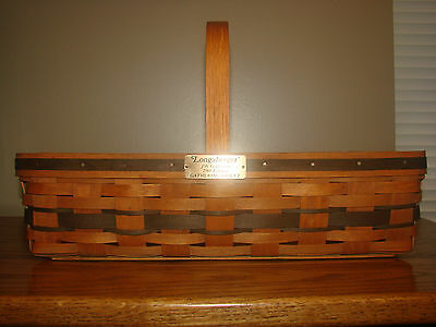 Longaberger JW COLLECTION 1988 Medium GATHERING Basket With Protector & Product