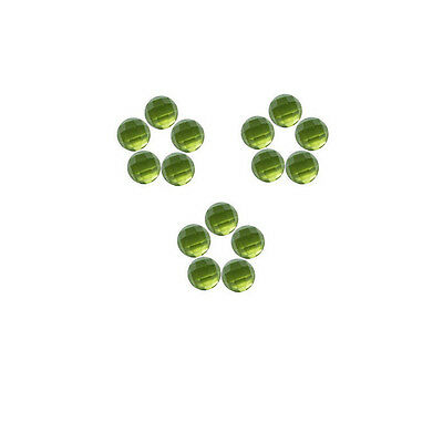 5x5mm 15pc AAA Quality Rose Cut Faceted Cabochon Natural Peridot Loose Gems
