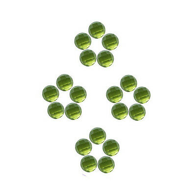 6x6mm 20pc AAA Quality Rose Cut Faceted Cabochon Natural Peridot Loose Gems