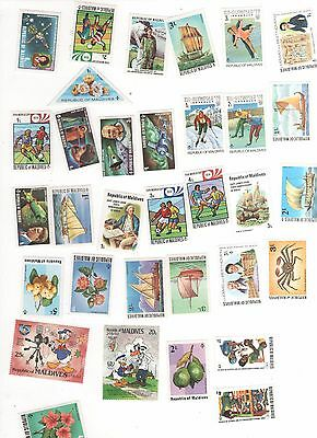 58 Timbres Neufs ** Republic Of Maldives ( Tous Differents)