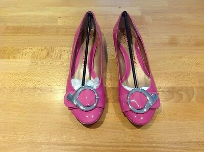 Ladies Luciano Barachini Shoes Uk Size 6 Euro 39 1/2 Pink Flats  New In Box
