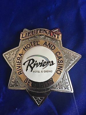 Obsolete Closed Down Riviera Hotel Casino  Badge Lieutenant Badge