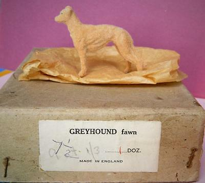 Timpo Vintage Flocked Lead My Pets Fawn Greyhound In Trade Box Mint Old Toy Shop