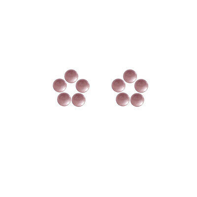 5x5mm 10pc AAA Quality Rose Cut Faceted Cabochon Rose Quartz Loose Gems