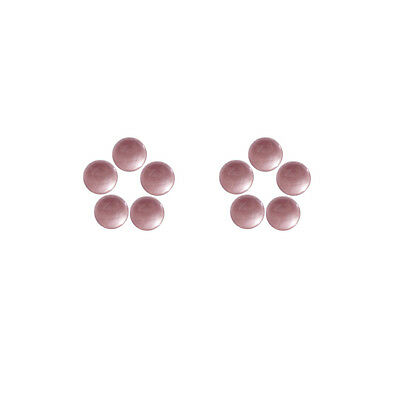 6x6mm 10pc AAA Quality Rose Cut Faceted Cabochon Rose Quartz Loose Gems