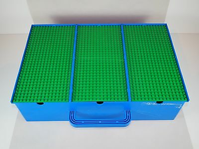 Vintage LEGO Storage Box Carry Case - Large Size with 3 base boards & 9 sections