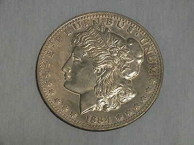 "Vintage Oversized Large 3"" Novelty Coin 1884 Liberty Head Dollar - Excellent!"