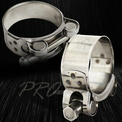 """1 x Zinc-Plated Carbon Steel Hose/Pipe/Filter T-Bolt Clamp 1-3/4""""-1-7/8"""" 44-47mm"""