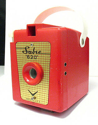 Vintage Red Sabre 620 Camera VERY CLEAN
