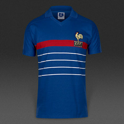 Maillot France 1984 Taille M Neuf Shirt Football Euro ref9-