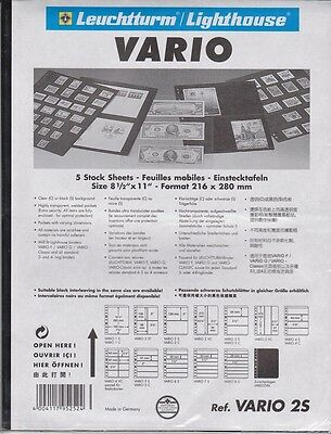 Lighthouse Vario 2S Stock Sheet/Album Page. New Pack of 5.