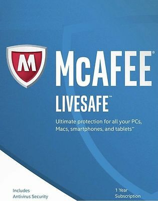 Download McAfee LiveSafe 2017 Unlimited Devices 1 Year - NEW & RENEW CUSTOMERS