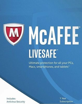 Download McAfee LiveSafe 2019 One Device 1 Year - NEW & RENEW CUSTOMERS