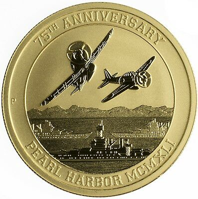 2016-P $100 Pearl Harbor Perth Mint 1 oz. .9999 Gold Coin