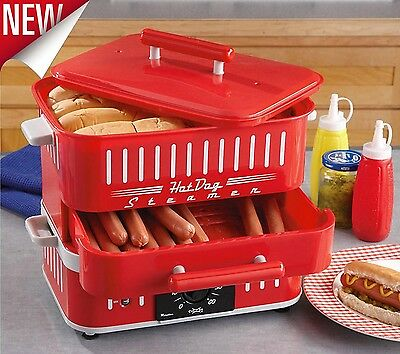 Hot Dog Machine Electric Food Steamer Commercial Hot Dog Cooker and Bun Warmer