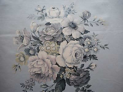 Lovely unused vintage cotton sateen floral Sanderson furnishing fabric - 'Hebe'