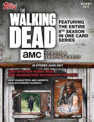 Topps The Walking Dead Season 6 Trading Cards Hobby Box New/Sealed