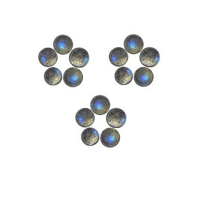 6x6mm 15pc AAA Quality Rose Cut FacetedCabochon Labradorite Loose Gems