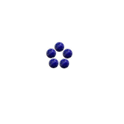 5x5mm 5pc AAA Quality Rose Cut Faceted Cabochon Lapis Lazuli Loose Gems