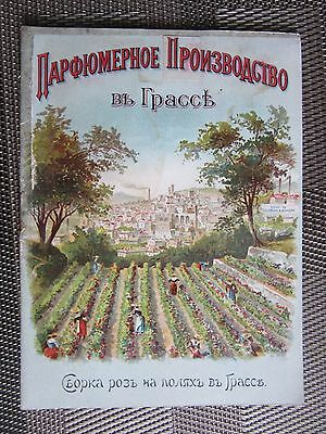 Imperial Russia - France Parfume Manufacturer in GRASSE advert booklet RUSSIAN