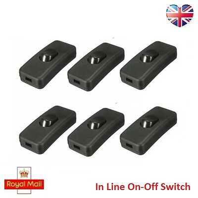 2A 250V AC On-Off Cord Line Rocker Button Switch Lamp Electrical UK