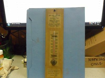 Wood JACKSONVILLE ILL. REDUCTION CO Adv. Thermometer DON`T BURY YOUR DEAD STOCK