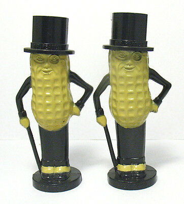 Vintage Planters Mr. Peanut Salt and Pepper Shakers by Pyro, Circa 1950's 1960's
