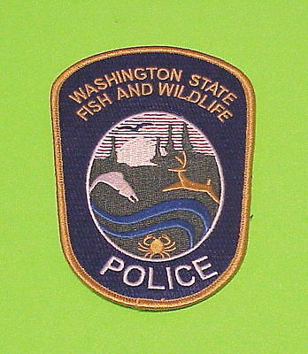 Washington State   Fish And Wildlife   Police Patch   Free Shipping!!!