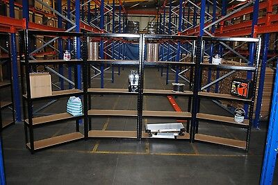 4 Bays of Steel 6ft (180x90cm) 5 Tier Garage Shed Racking Storage Shelving Units
