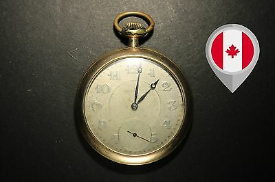 """Pocket Watch - Gallet Movement, AWC Co. """"Gold Filled"""" case *** AS IS ***"""