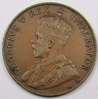 CYPRUS -  KING GEORGE V  1/2  PIASTRE COIN  dated 1927