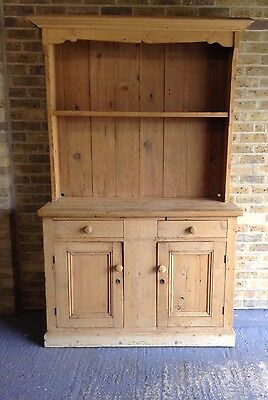 Antique Victorian Stripped Pitch Pine Dresser. Delivery Available.