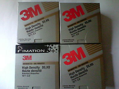 """4 boxes of used Imation 3M 3.5"""" Formatted High Density Diskettes DS HD"""