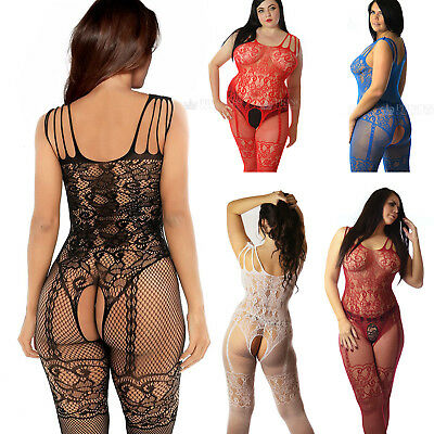 Fishnet Bodystocking Lingerie Catsuit Tights Bridal Lot Curvy Plus Size UK 6-26