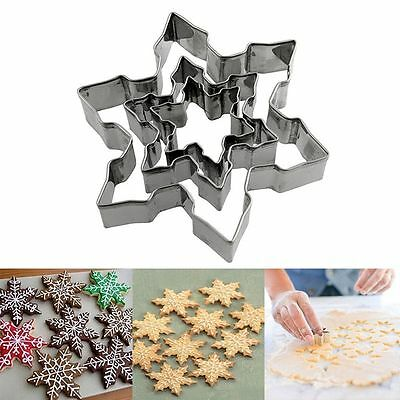 Stainless Steel Baking Tool Cake Biscuit Mould Cookie Cutter Snowflake Fondant
