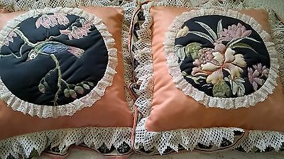 Vintage Handmade Country Patchwork Set of 2 Pillow Cases