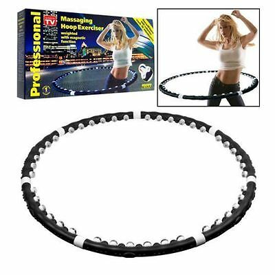 Fitness Weighted Professional Magnetic Workout Hula Hoop Massage Abs Exercise
