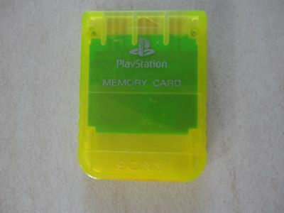 Carte Mémoire Playstation 1 Officielle Jaune Fluo