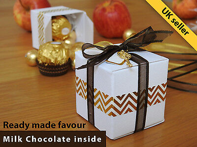 Party Wedding Birthday Baby Shower Favour Gift Present Boxes with Chocolate