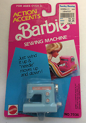 Vintage 'Action Accents' Barbie Toy Sewing Machine NIB