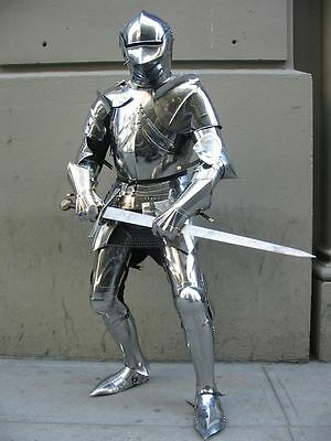 Steel KNIGHT SUIT OF ARMOR 15th CENTURY FULL BODY ARMOUR FULL SUIT