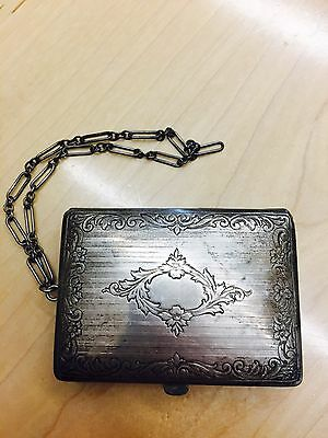 Webster Sterling Silver Marked Purse Wallet Compact
