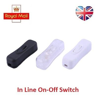 2A 250V AC On-Off Cord Line Rocker Button Switch Lamp Electrical USB UK Seller