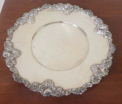 """Antique Wallace Baroque Silver Plate Serving Platter Vegetable Dish Tray 11"""""""