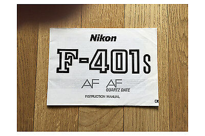 NIKON F-401s INSTRUCTION MANUAL